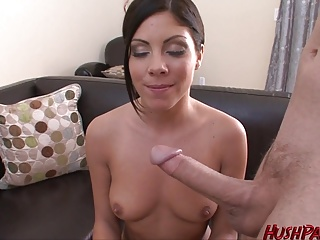Cute school teacher tries porn and loves it!
