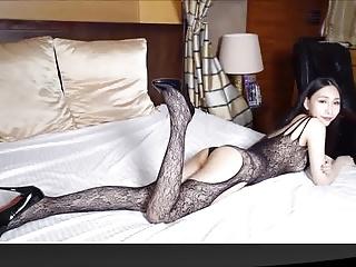 Slim girl in sexy lacy bodystocking 02